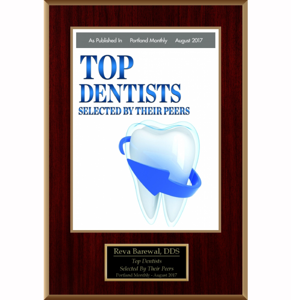 Barewal, Top Dentist Award, Portland Monthly 2017